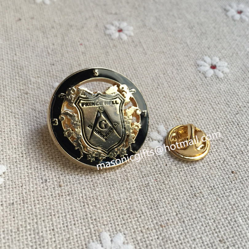 PRINCE HALL logo badge free masons masonic lapel pin custom