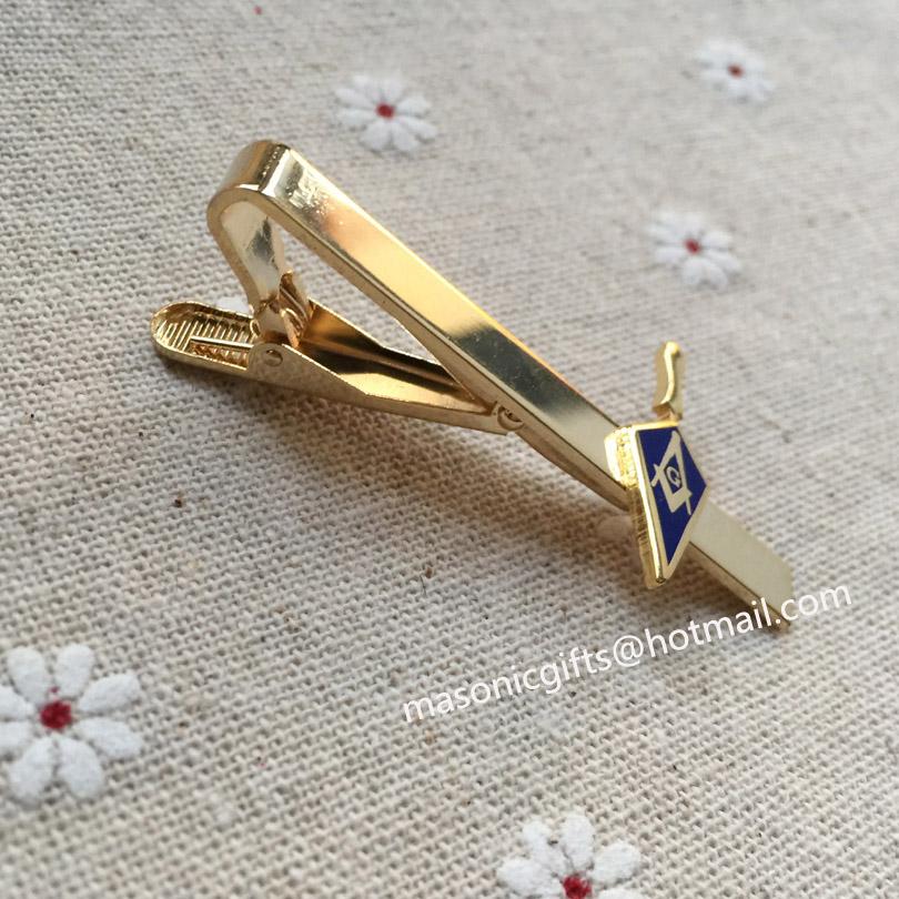 Freemason Tie Bar in Gold Tone