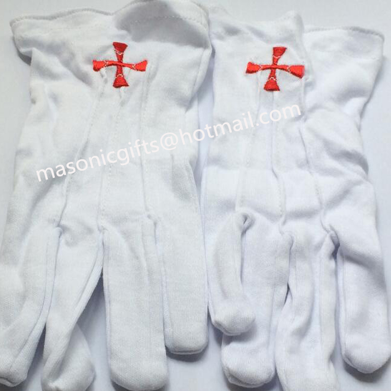 masonic gifts store supply Masonry white cotton gloves with