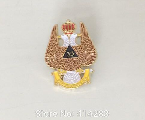 Masonic Pins and Brooch Scottish Rite 33rd Degree Double Headed