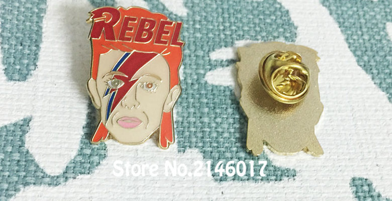 Soft Enamel Pins and Brooch Rock David Bowie Inspired Lapel